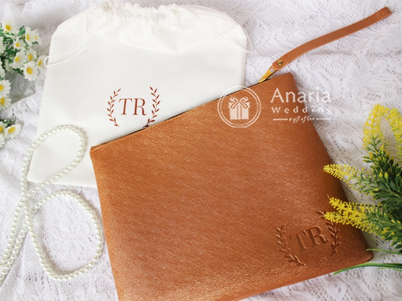 Souvenir Wedding Custom Methalic Clutch